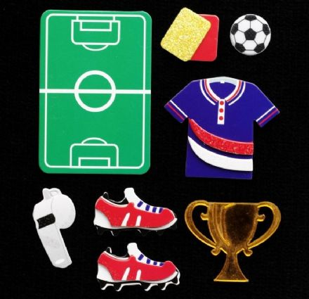 C2275 ~ FOOTBALL PITCH ~ TRIMITS ~ pack of 8